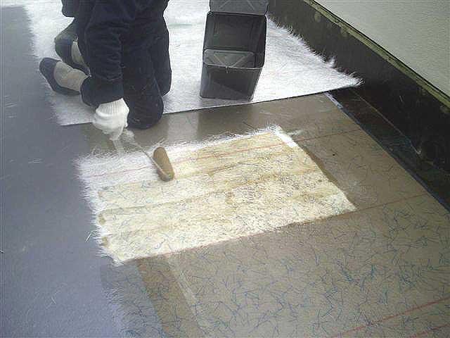 ベランダFRP防水ガラスマット