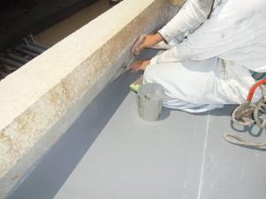 塩ビ鋼板と塩ビシートの溶着